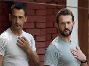 The two jailed Italian marines