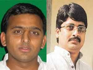 Akhilesh Yadav and Raja Bhaiya
