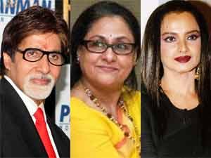 Amitabh Bachchan, Jaya Bachchan and Rekha