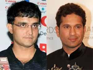 Sourav Ganguly and Sachin Tendulkar