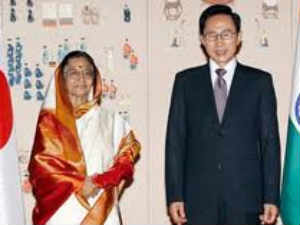 Indian Prez with South Korean Prez