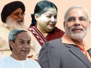 Narendra Modi-Naveen Patnaik-Jayalalithaa