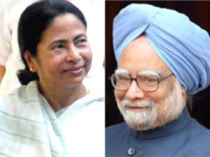 Mamata Banerjee and Manmohan Singh