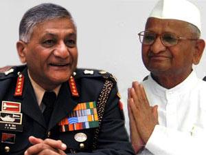 Gen VK Singh-Anna Hazare