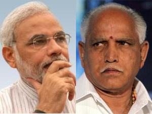 Narendra Modi-BS Yeddyurappa