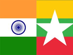 India-Myanmar Flag