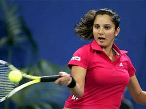 Sania Mirza Red