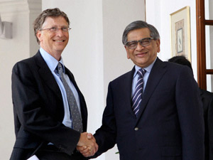 SM Krishna-Bill Gates