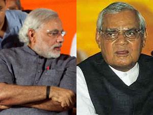 Narendra Modi and Atal Bihar Vajpayee