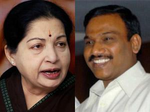 Jayalalithaa and A Raja
