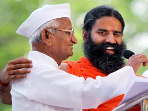 Anna Hazare and Baba Ramdev