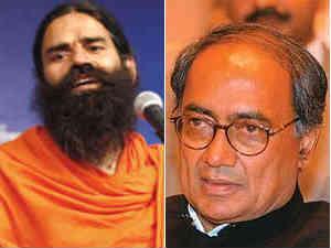 Baba Ramdev and Digvijay Singh