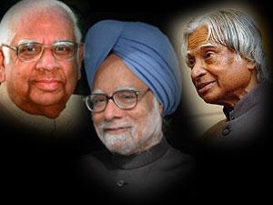 Somnath Chatterjee, Manmohan Singh and Abdul Kalam