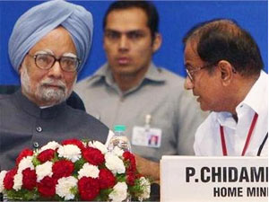 Manmohan Singh with Chidambaram