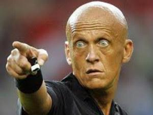 UEFA refereeing chief Pierluigi Collina