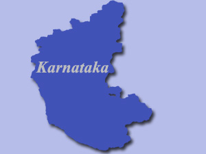 Bangalore in Karnataka map