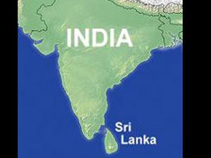 Sri Lanka and India map