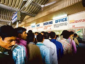 Railway ticket counter