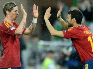 Fernando Torres and Cesc Fabregas