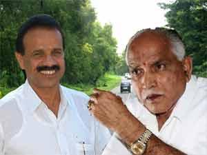 Sadananda Gowda and Yeddyurappa