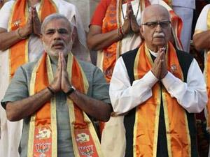Narendra Modi with LK Advani