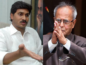 Jaganmohan Reddy and Pranab Mukherjee
