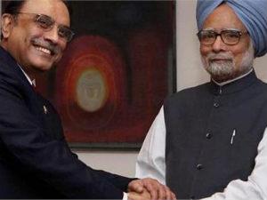 Zardari and Manmohan Singh
