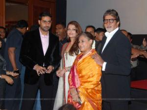 Amitabh Bachchan with family