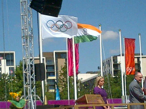 Indian flag hoisted at Olympics Athletes Village