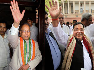 Pranab and Sangma