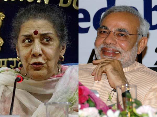 Ambika Sonia and Narendra Modi