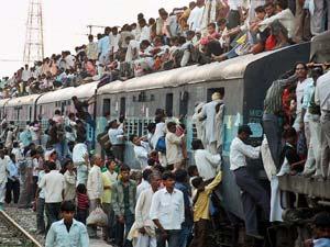 Train attacked