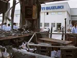 Violence at Maruti plant