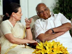 Sonia Gandhi and Sharad Pawar