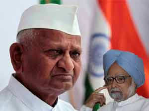 Anna Hazare-PM Manmohan Singh