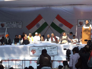 Anna Hazare and team