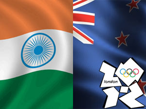 India-NewZealand Flag
