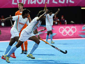 India Vs Holland action