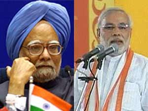 Manmohan and Narendra Modi