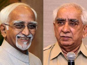 Hamid Ansari and Yashwant Singh