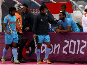 Dejected India players