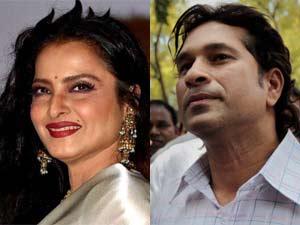 Rekha and Sachin