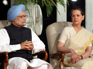 Manmohan Singh with Sonia