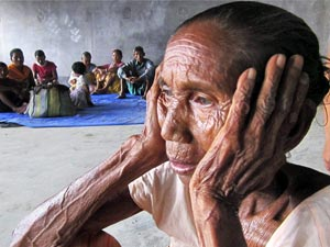 A woman in Assam relief camp