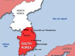 North-South Korea map