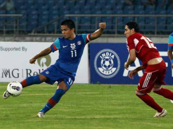 Chhetri, Pereira help India beat Syria