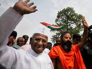 Anna Hazare-Baba Ramdev