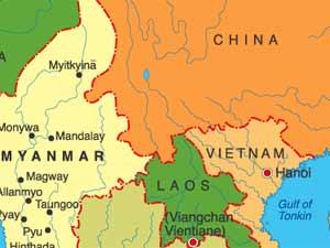 China-Myanmar-Map