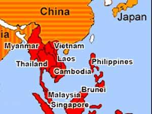 China Singapore Map