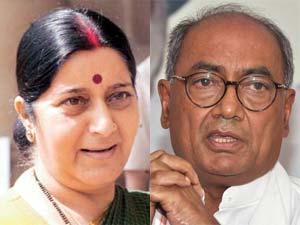 Sushma Swaraj and Digvijay Singh